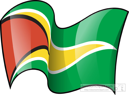 Guyana flag waving 3